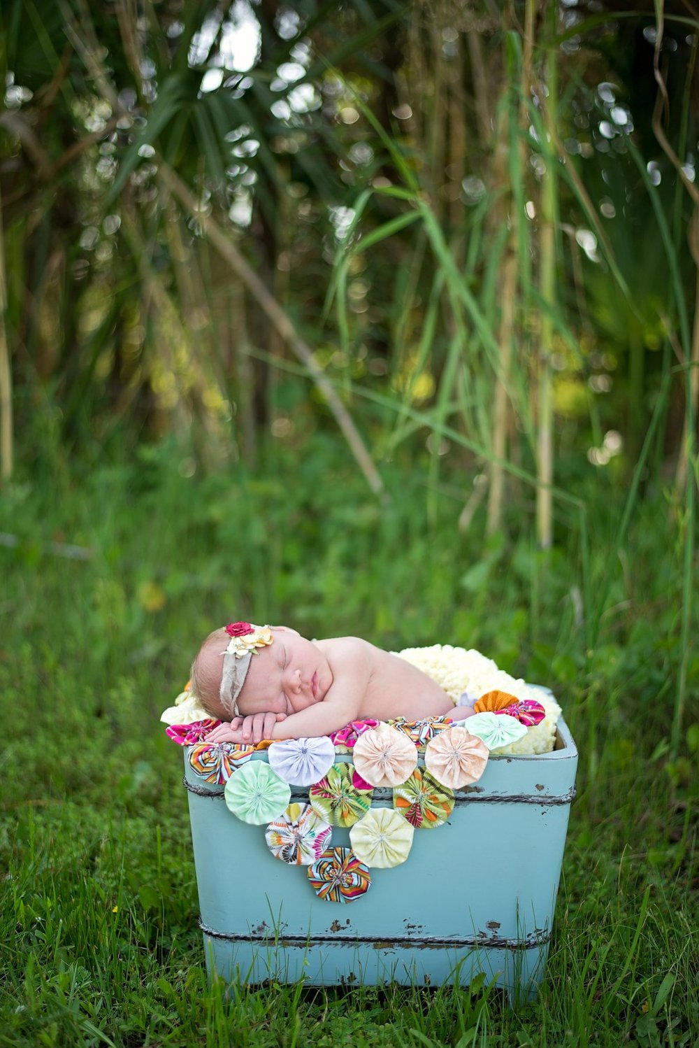 Newborn Photos Outside during the day