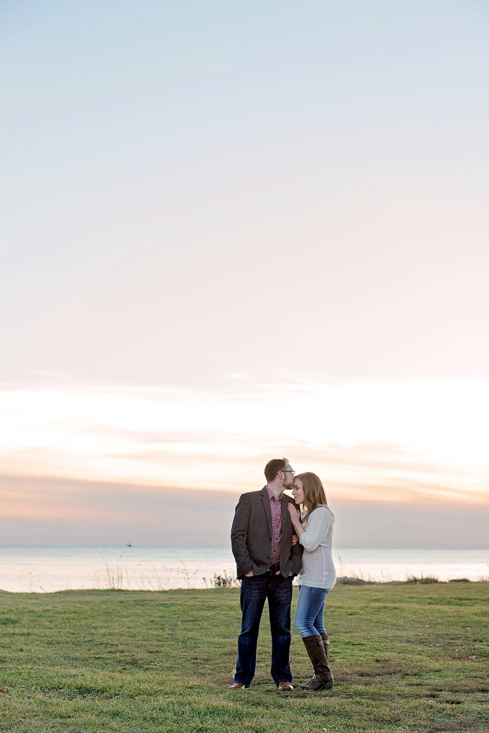 Harkness sunset engagement photos