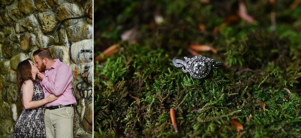 Devils Hopyard state park Engagement photos
