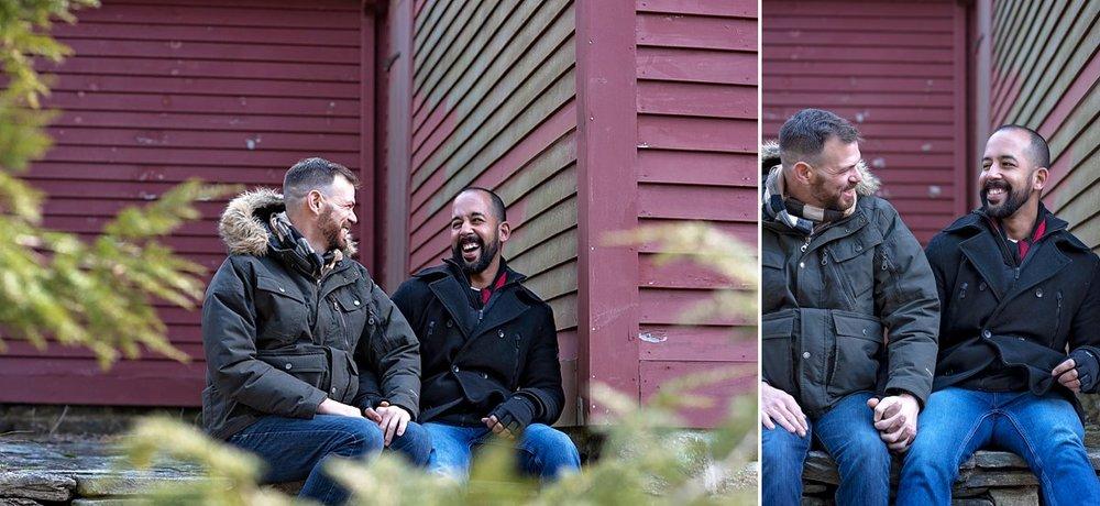 Same sex couple engagement session