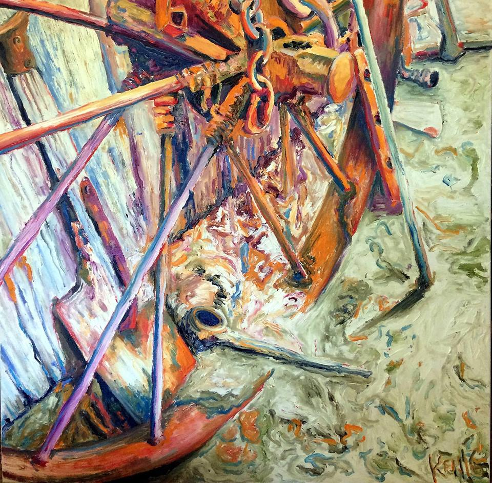 Disused 12 - Bridge Creek     Oil on Canvas    91.4 cm x 91.4 cm    $650