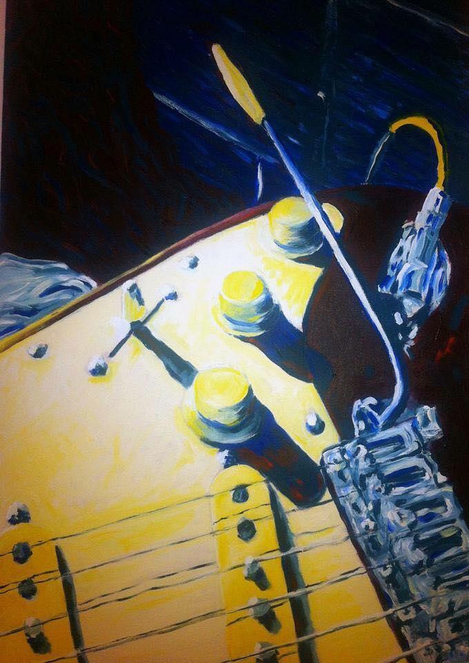 Stratocaster     Acrylic on Canvas    60.9 cm x 91.4 cm    $550