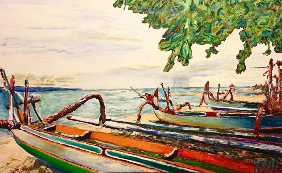 Bali 2     Oil on Canvas    121.9 cm x 76.2 cm    $600