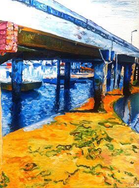 Hampton 9     Oil on Canvas    91.4 cm x 121.8 cm    $650