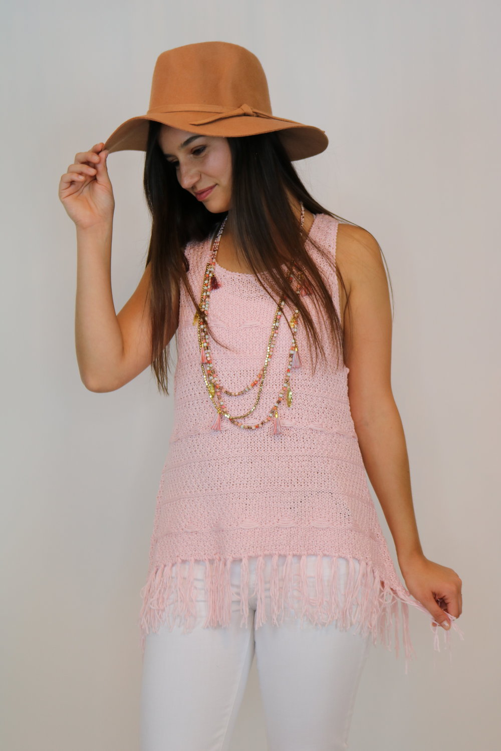 Coachella Diaries Blush Pink Top