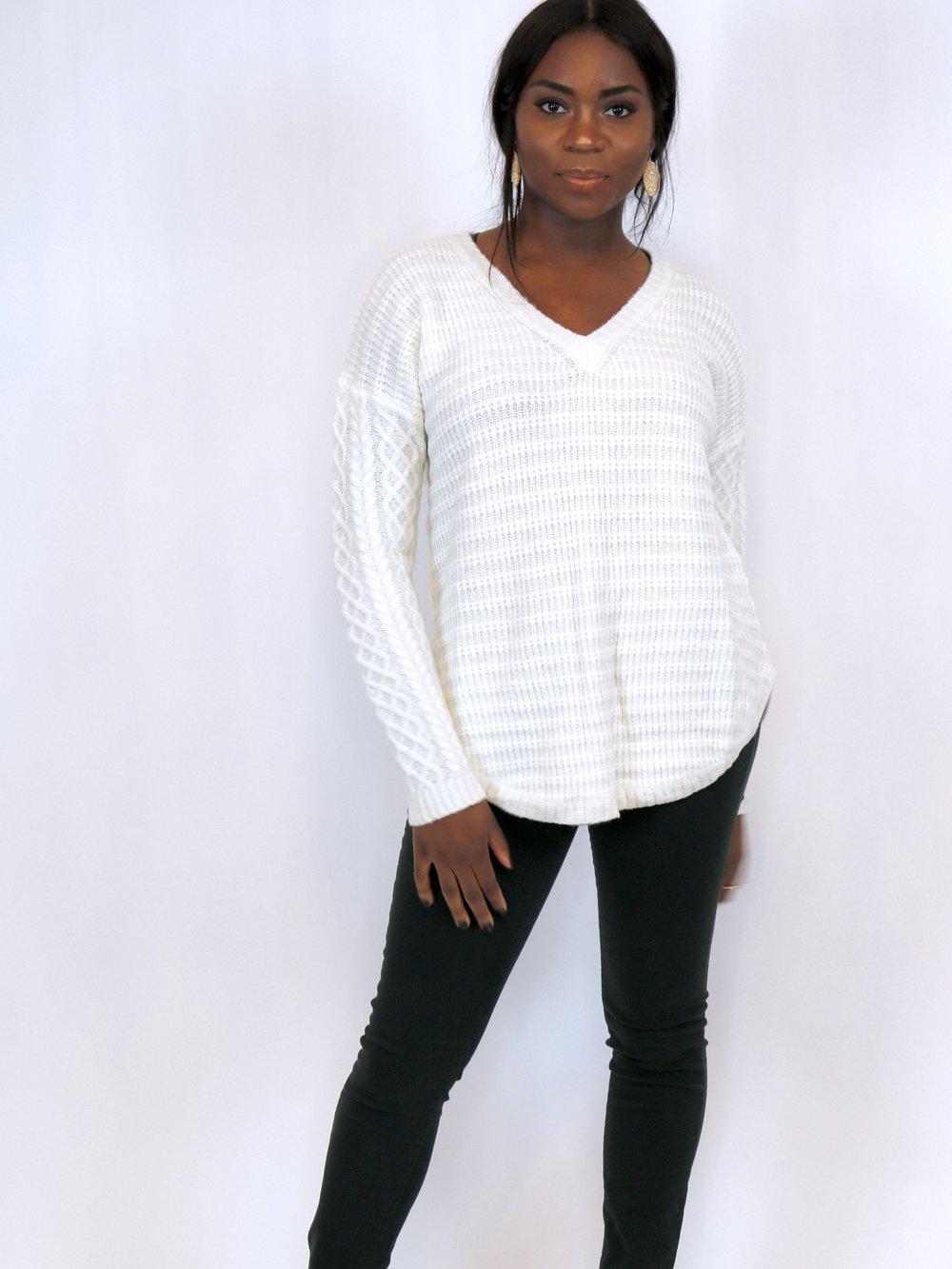 Wishful Thinking Cream Knit Sweater