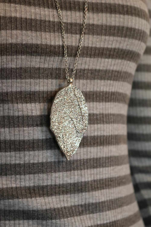 Mother Nature Silver Leaf Necklace