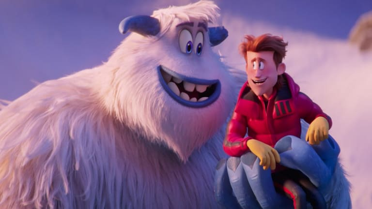 Migo (Channing Tatum) and Percy (James Corden) become unlikely friends in Smallfoot