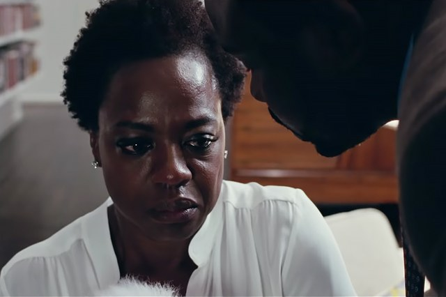 Veronica (Viola Davis) under pressure to address and pay her husband's debts
