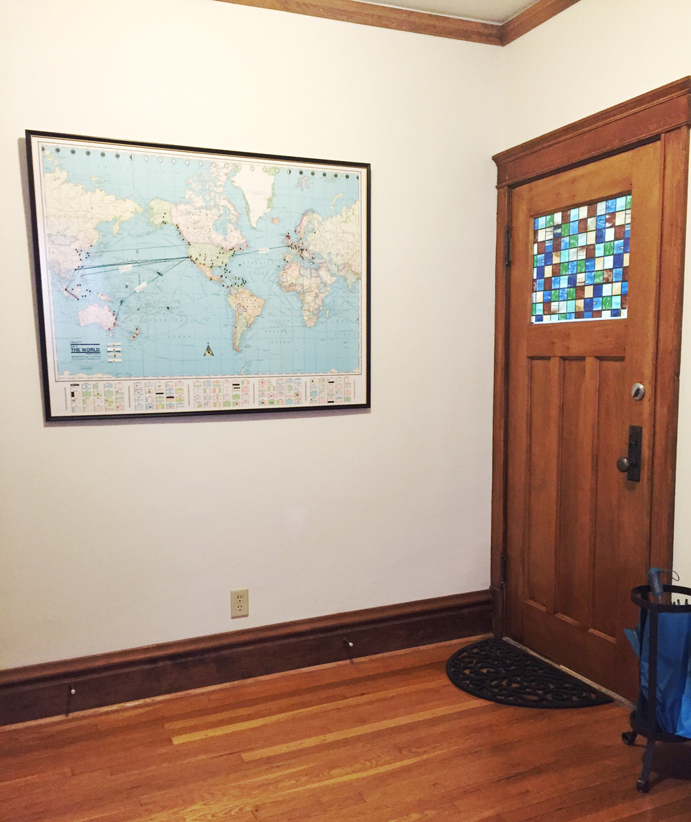 My granddad's map that he gifted to me this past summer. It's now proudly displayed in our entry way.