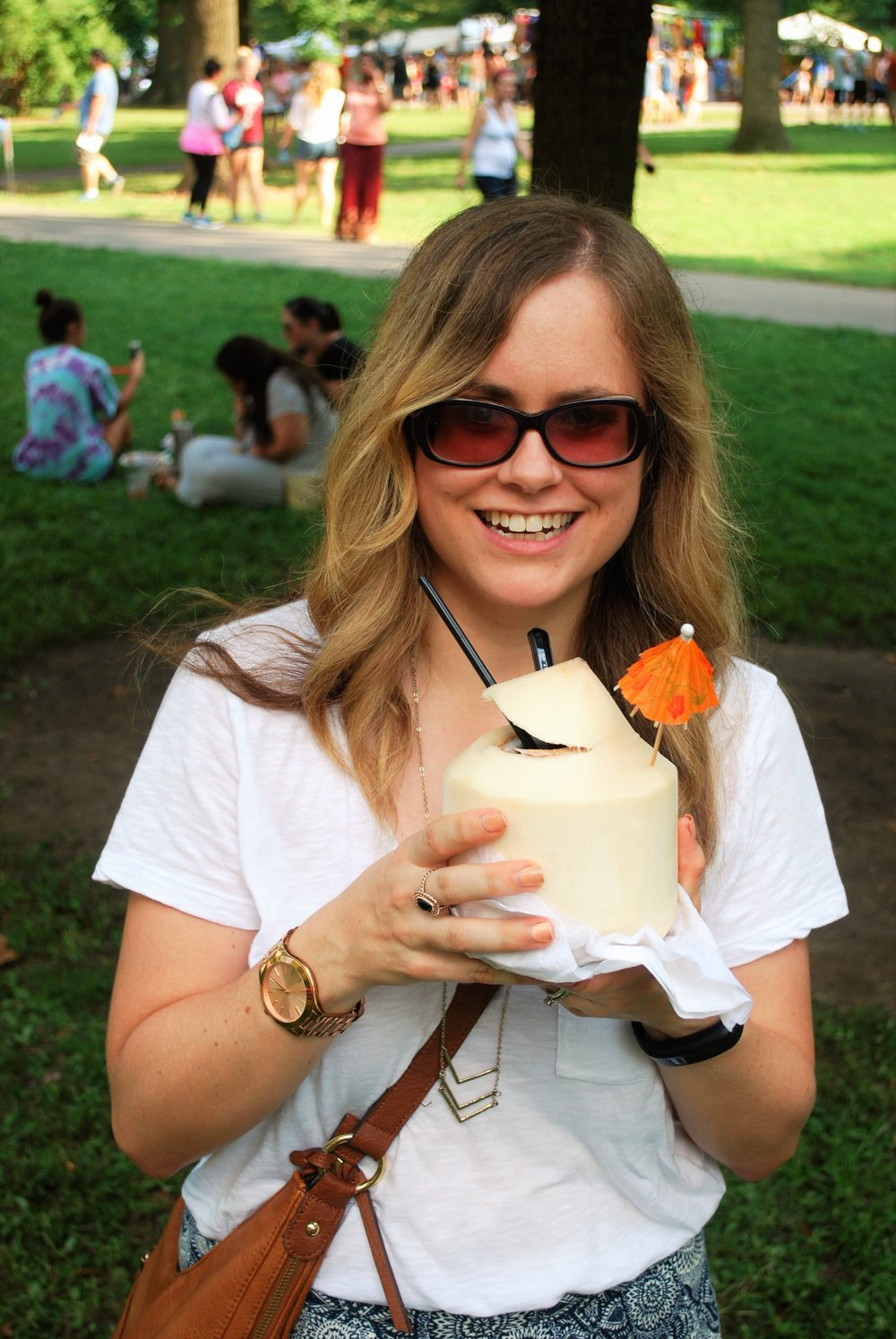 Cooling off with some fresh coconut water