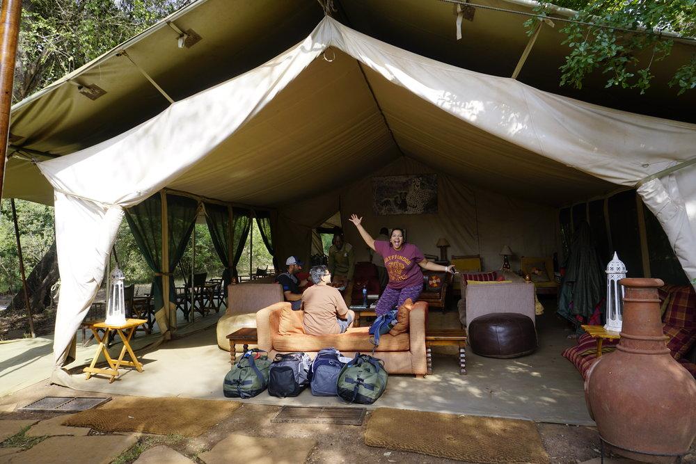 "Reception ""lobby"" of Nairobi Tented Camp"