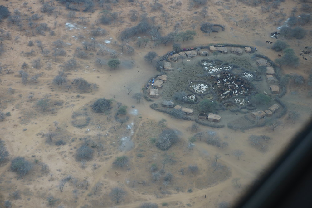 Maasai Village shot from the air with my cell phone