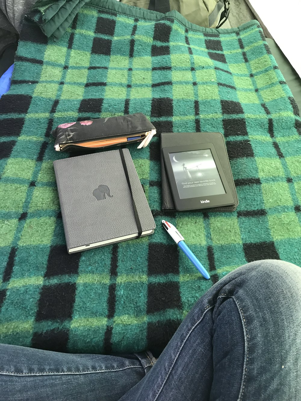 Journaling and reading during the afternoon downtime