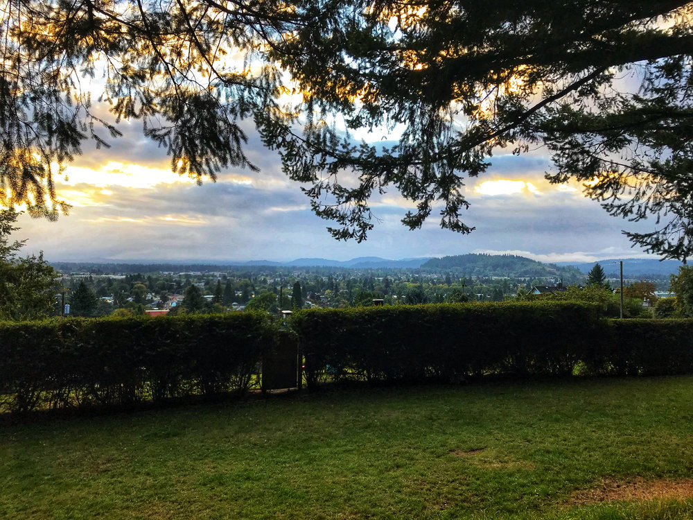 View during our morning run up Mount Tabor