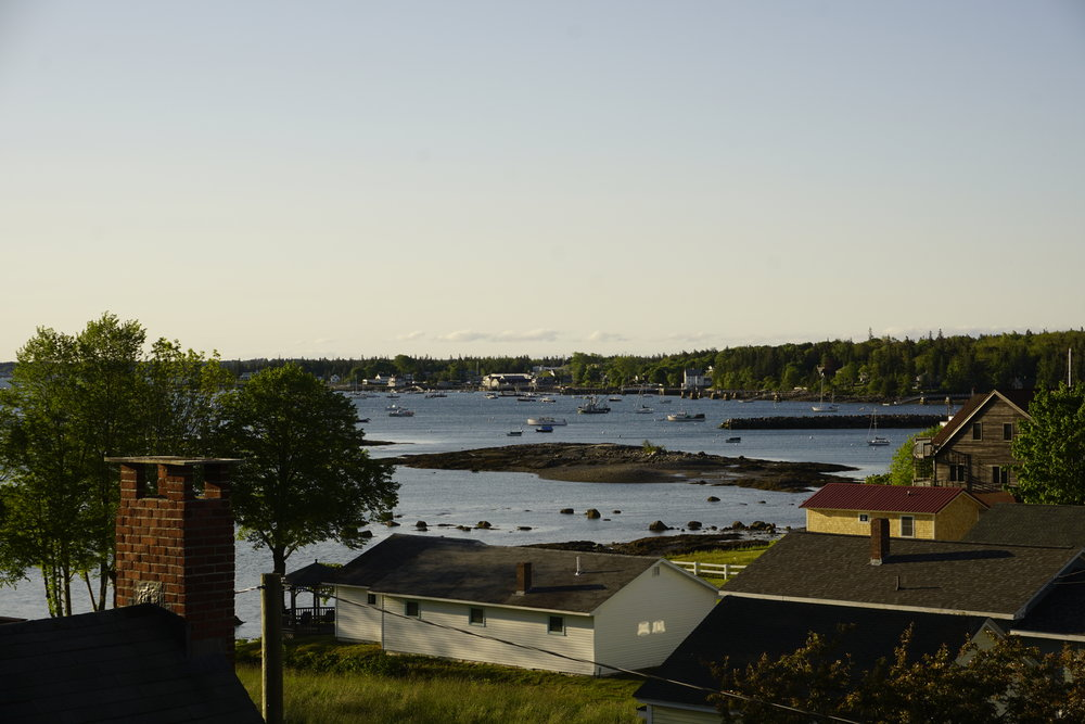 View from our balcony at the Kingsleigh Inn, Southwest Harbor, ME