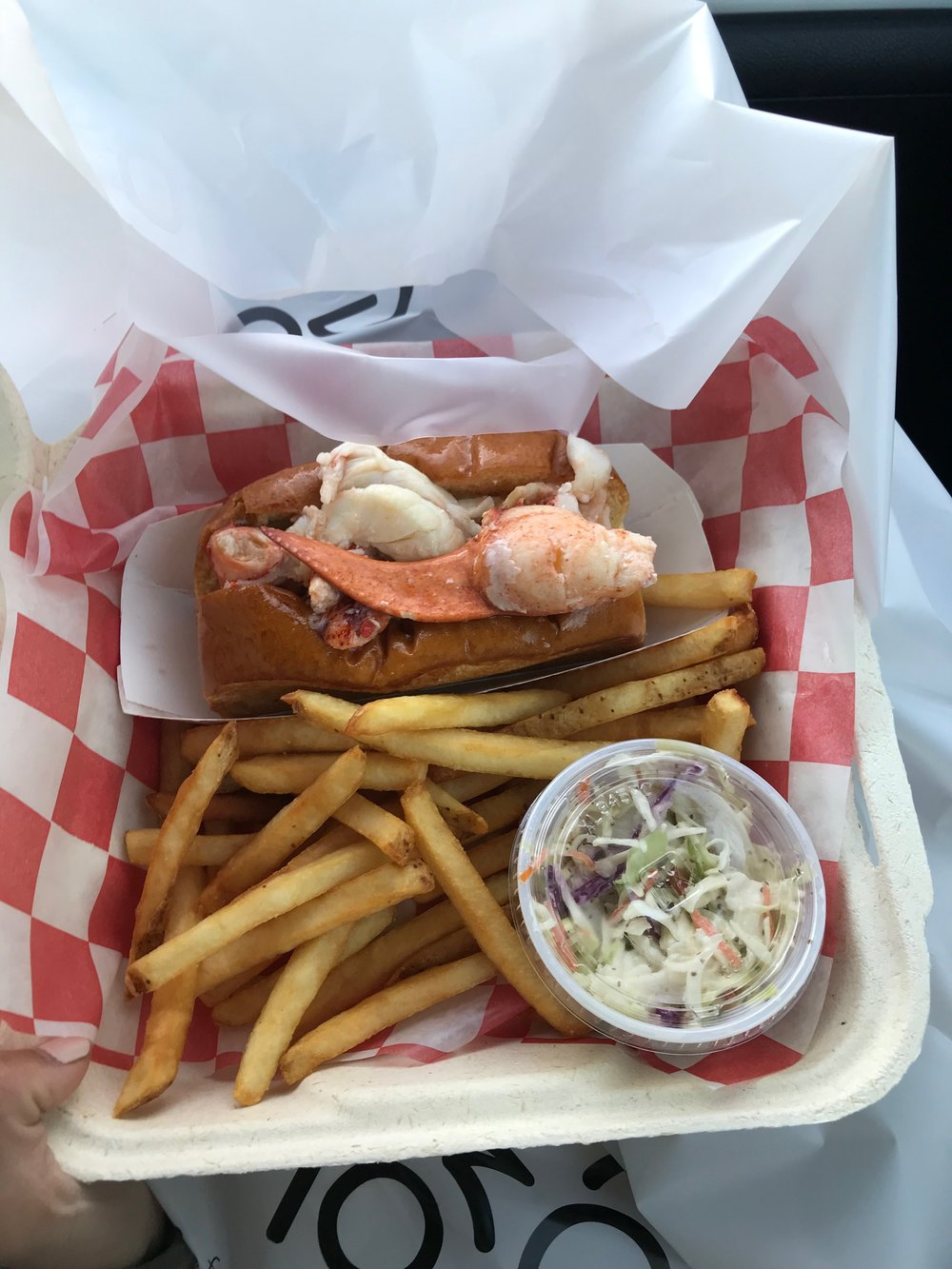 Lobster Roll from Beals Lobster House