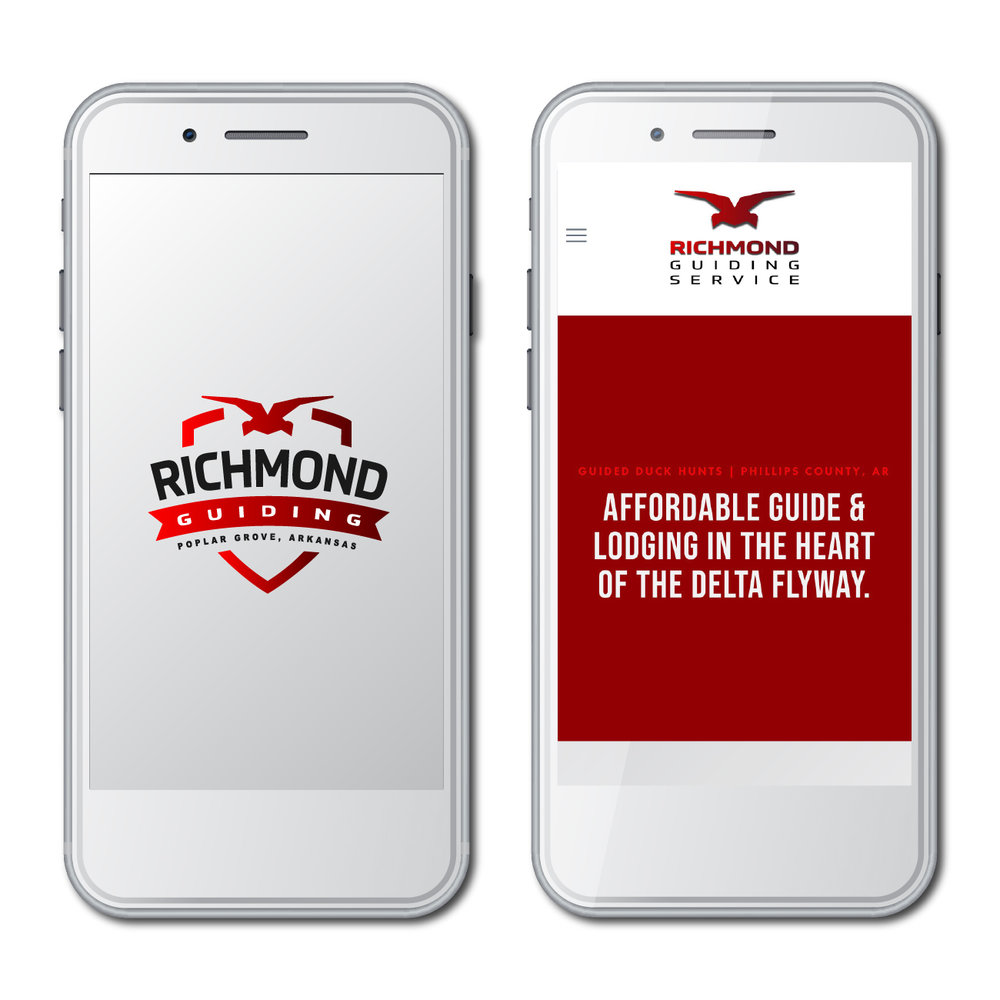 Richmond Guiding Service - Branding, Logo Design, Mobile Web Design and Development, Social Media for Businesss, Content Management Training.