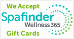 We accept Spafinder Gift cards.
