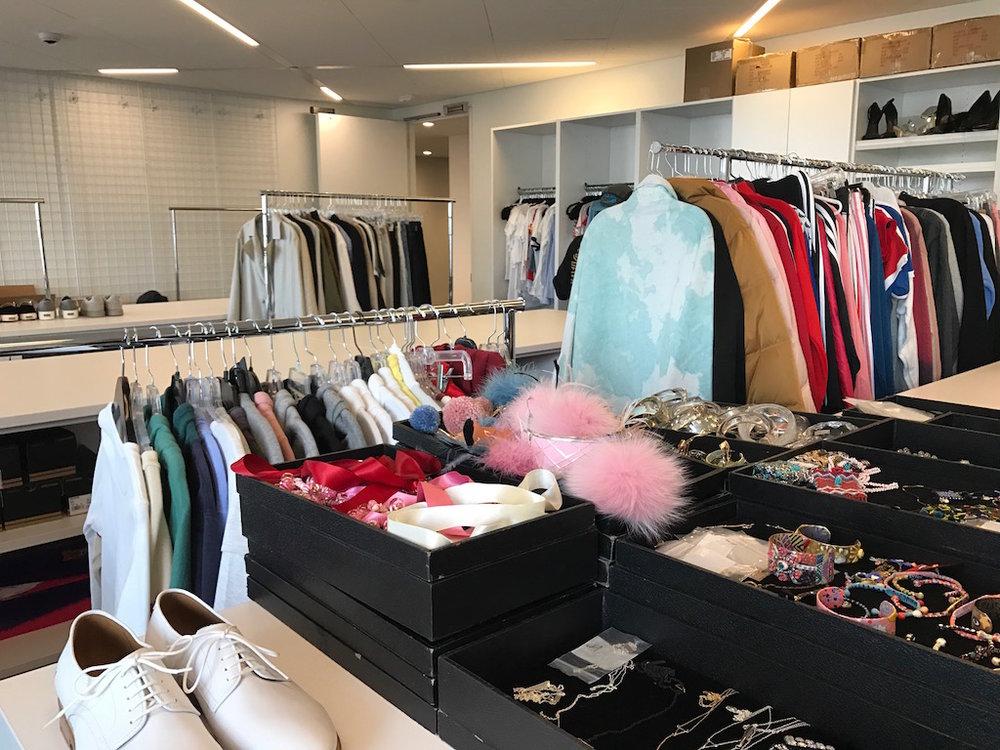 The fashion closet!