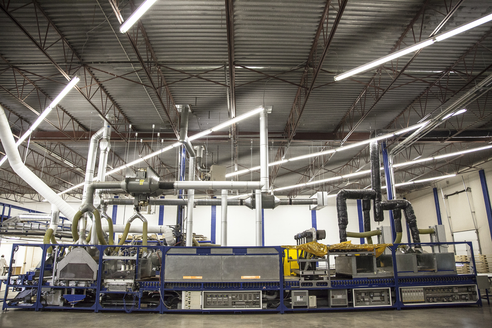 Cadillac Coating's one-step production line - The Paintline. Click the photo to enlarge.