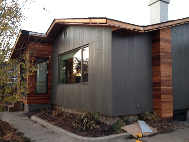 ARCHITECT'S HOME  – powder coated James Hardie Lap Siding in a custom grey