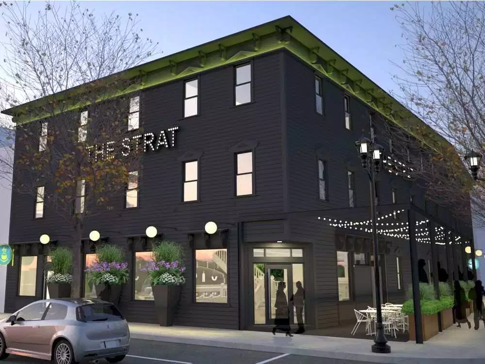 Photo Credit:  (Artist rendering of the renovated Strathcona Hotel, Courtesy of The Edmonton Journal)