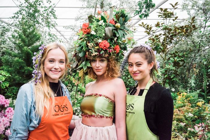 Jessie, Katherine and I at Chelsea Flower show - Okishima & Simmonds