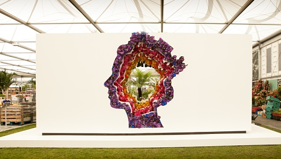 New Covent Garden Flower Market exhibit at Chelsea Flower Show 2016 (the florist side) - Photo by  APR Communications