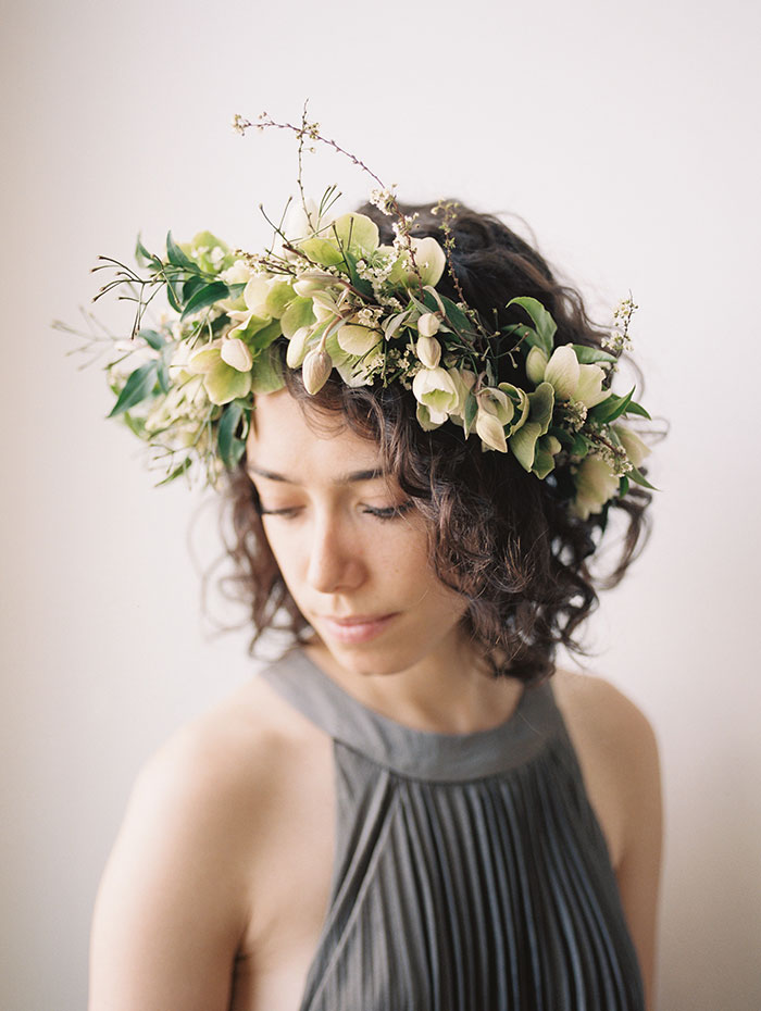My floral crown || Photo by  Kate Osborne