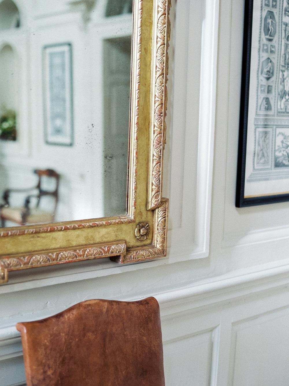 gold mirror - Gloster House in Brosna, Birr, Ireland