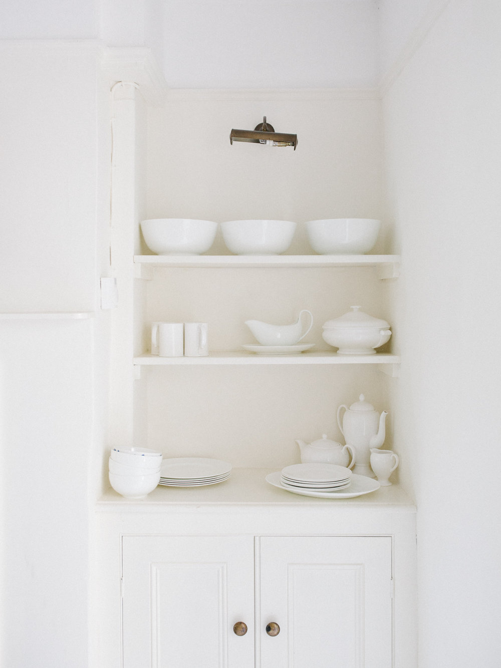 white dishes | Larkhall Place, Bath