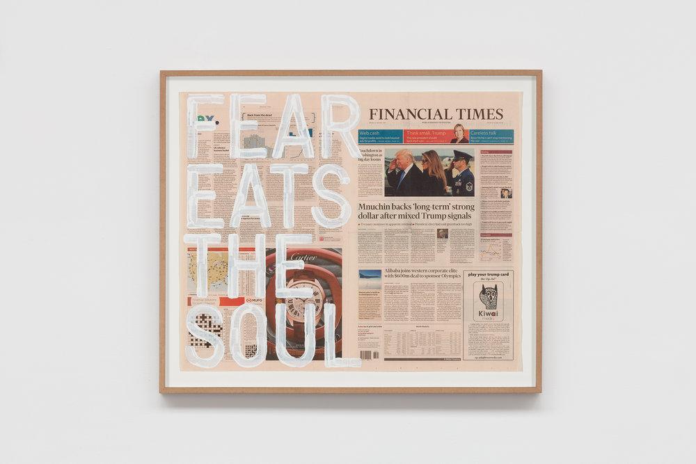 RIRKRIT TIRAVANIJA   Untitled (fear eats the soul/friday january 20, 2017)  2017