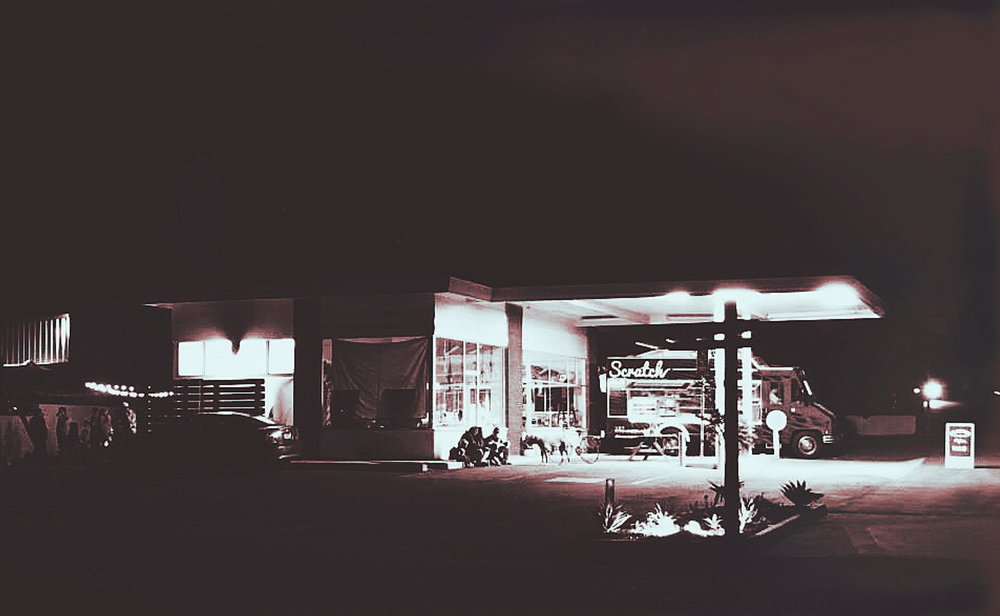the gas station. photocredit shop summer camp