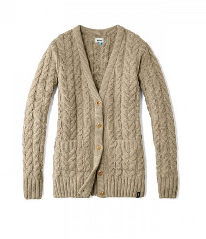 finisterre carne cable cardigan