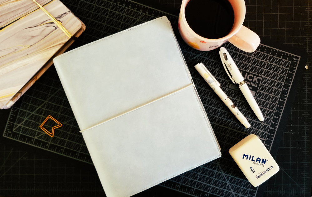 My Brick of a Planner - A great 6-ring A5-sized planner with a flexible cover and lay-flat design. Feels like carrying around a gigantic brick of a notebook around. Additional bonus: it's actually pretty cheap, and only looks expensive.