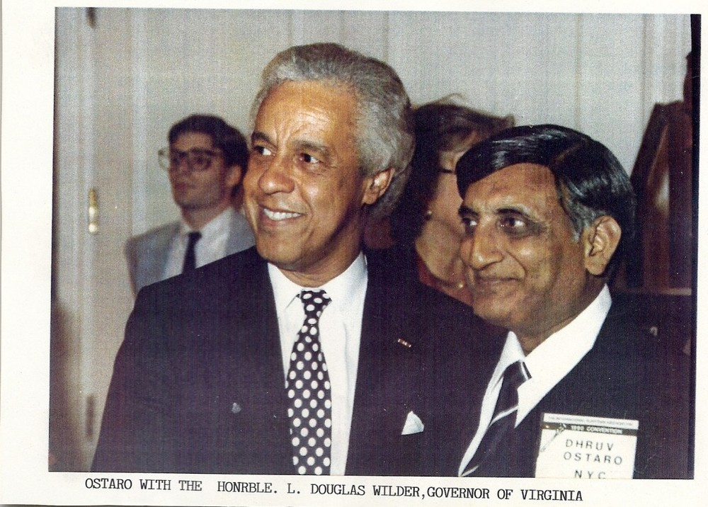 With Gov. Douglas Wilder