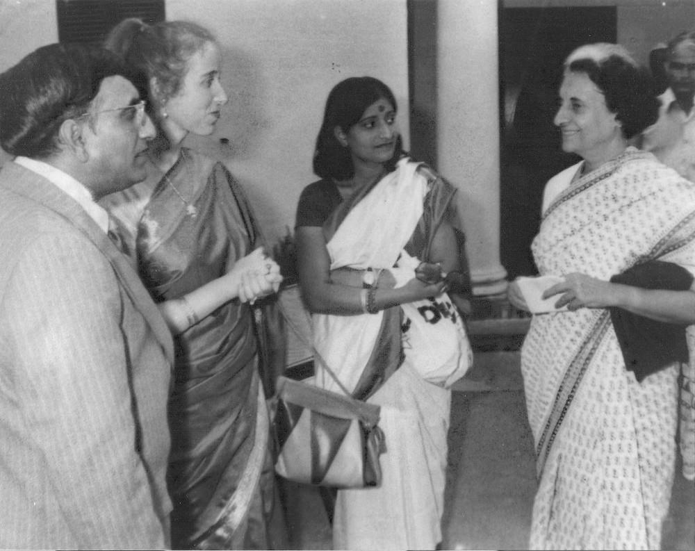 With Indira Gandhi