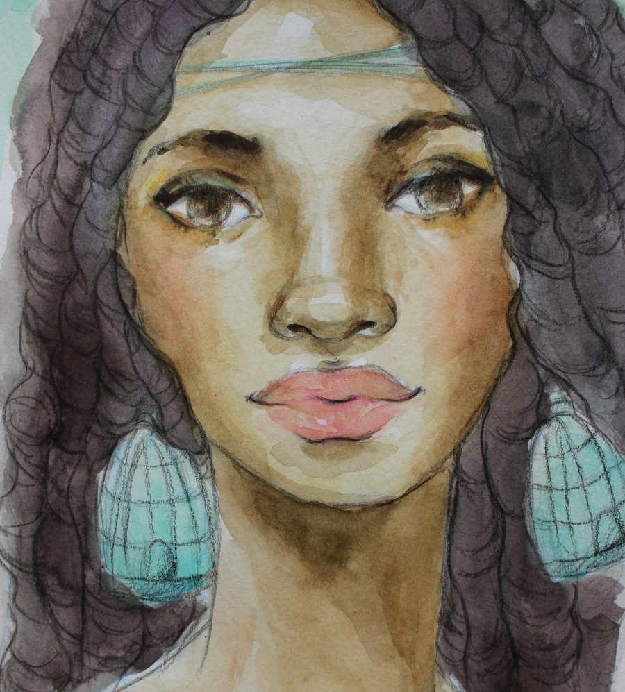 Join My Watercolor Faces Class!