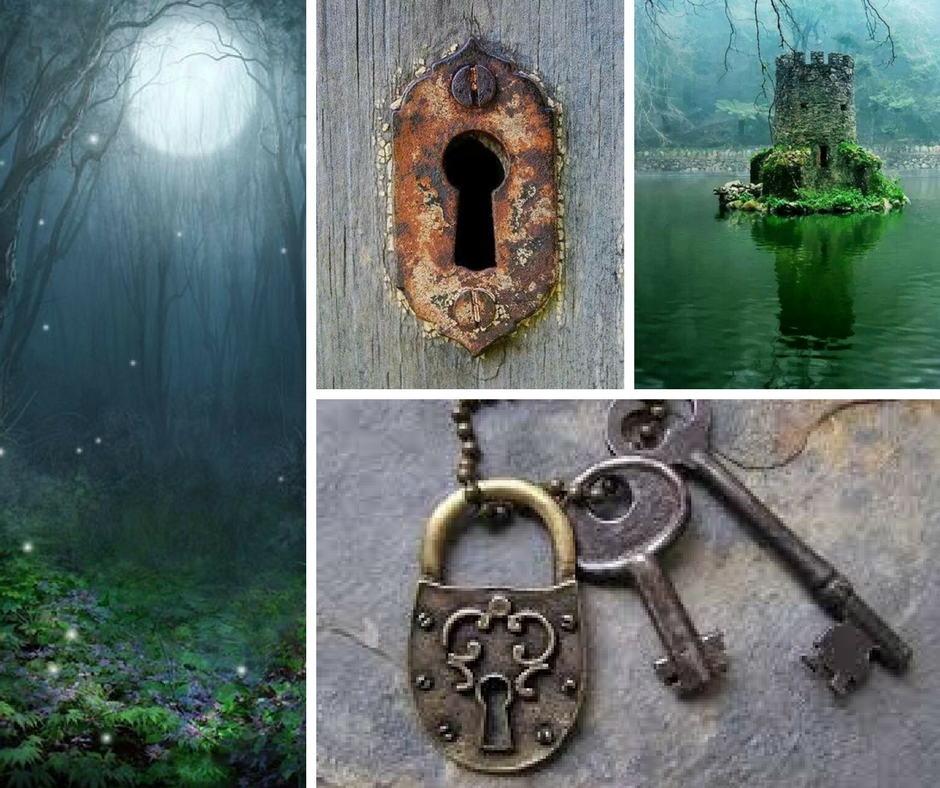 forest ,  key hole ,  key/lock ,  castle