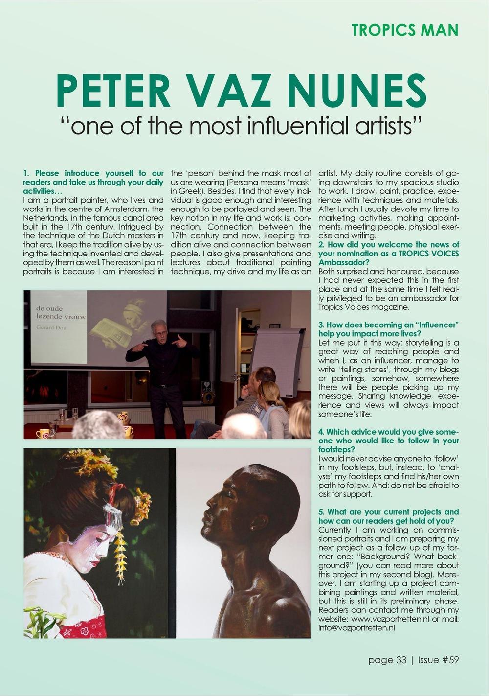 Interview TropicsMagazine (22 juli)