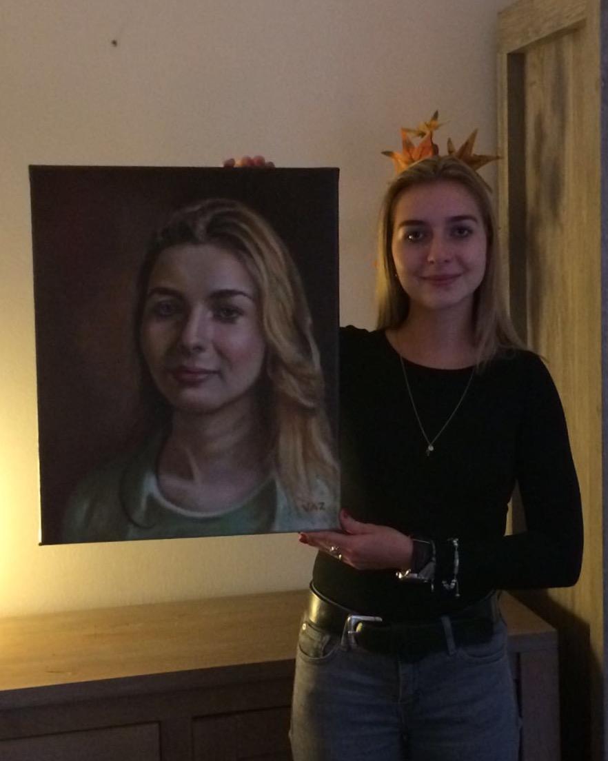 Het model met portret (30/10/'16)