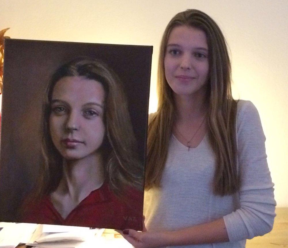Het model met portret. (30/10/'16)