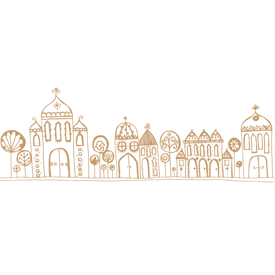 Pen and Ink Illustration | Tiny Town