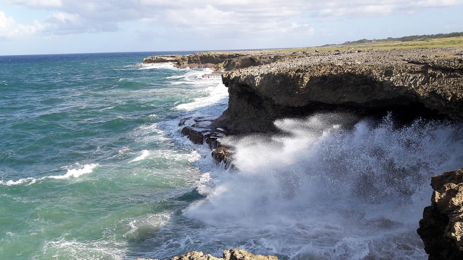The north of the island is known for wild seas, but it makes for a spectacular picnic site.