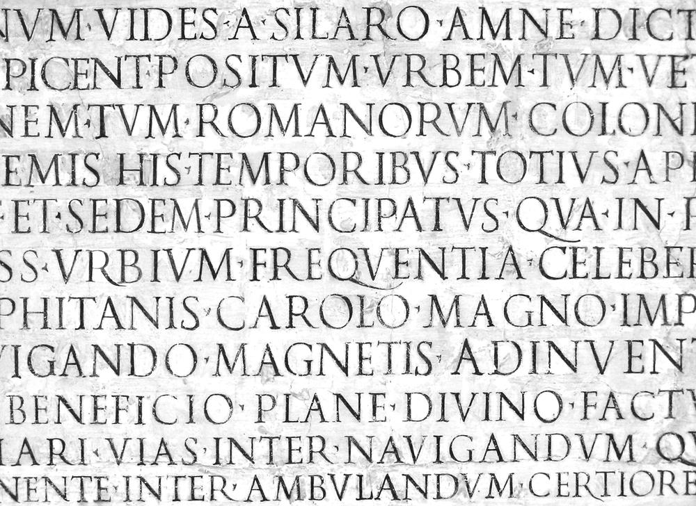 Renaissance painted lettering.