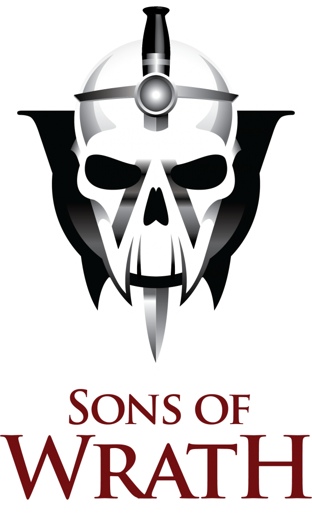 Sons of Wrath Logo (Red Text - Style 2)