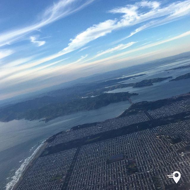 An aerial view of San Francisco ✈️  Have you tried imabouts app yet?  Wherever your travels are taking you -imabouts can make meeting easier - with the people you want to meet.  The app will let you know whenever your current or future plans overlap with those of your chosen contacts, and give you the option to get in touch... meaning that you never need to miss another opportunity to get together.  Add your plans, select your chosen contacts, and we'll let you know who is about - simple as that!  Its Private and discreet, with no location sharing.  Free on the iPhone and Android   #imabouts #cabincrew #makingmeetingeasier #flightattendant #cabinlife #pilot #frequentflyer #aerial # viewfrommywindow #sanfrancisco #goldengatebridge #travelphotography #travel #lovetotravel #travelgram