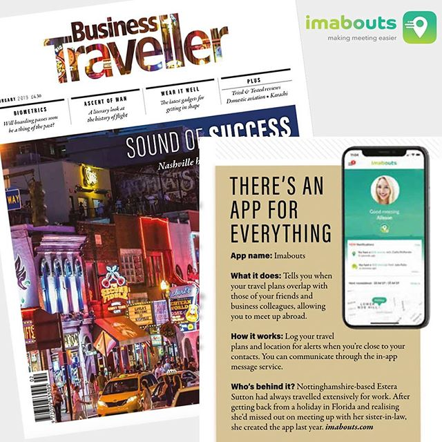 We have been featured in the latest issue of @businesstravelleruk magazine ✈️! #imabouts #makingmeeting #travel #lovetotravel #business #businesstravel #frequentflyer #traveller #aroundtheworld #travelphotography #travelgram #businesstrip #meetup #flightattendant #cabincrew #freeapp #apple #android
