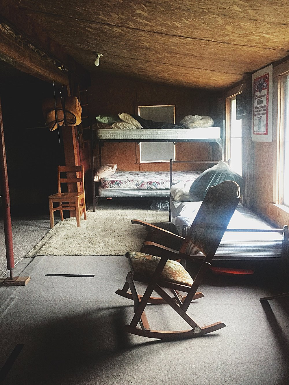 An inside-look of the Doll House in Owls Head, N.Y., one of the many cabins David Sweat and Richard Matt raided while on the run.  (Chelsia Rose Marcius/Oct. 16, 2016)
